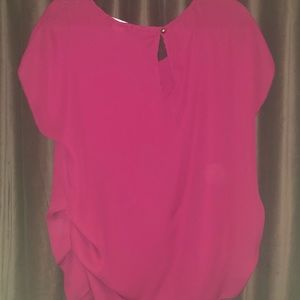 Michelle Burgundy/Red blouse size Large.